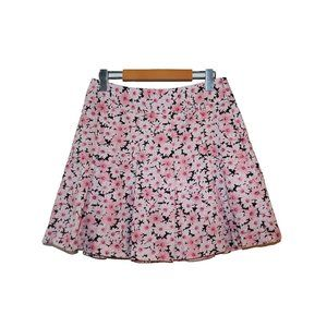 Lizgolf Pink Floral Pleated Golf Skort Mini Skirt